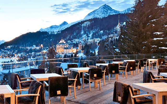 Hot spot: The Carlton Hotel, St Moritz