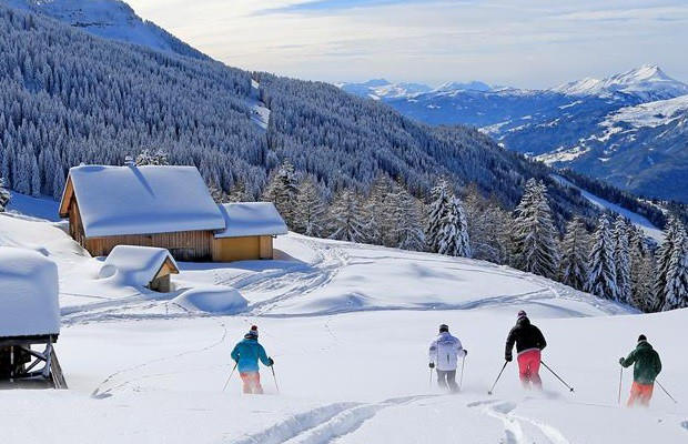Record snow levels in the French Alps this February